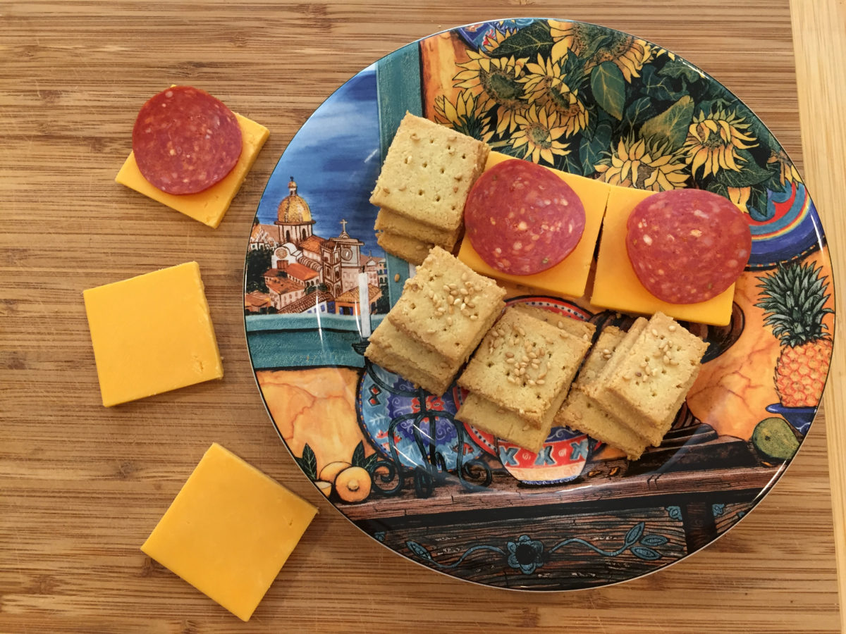 Keto Cheese and Crackers